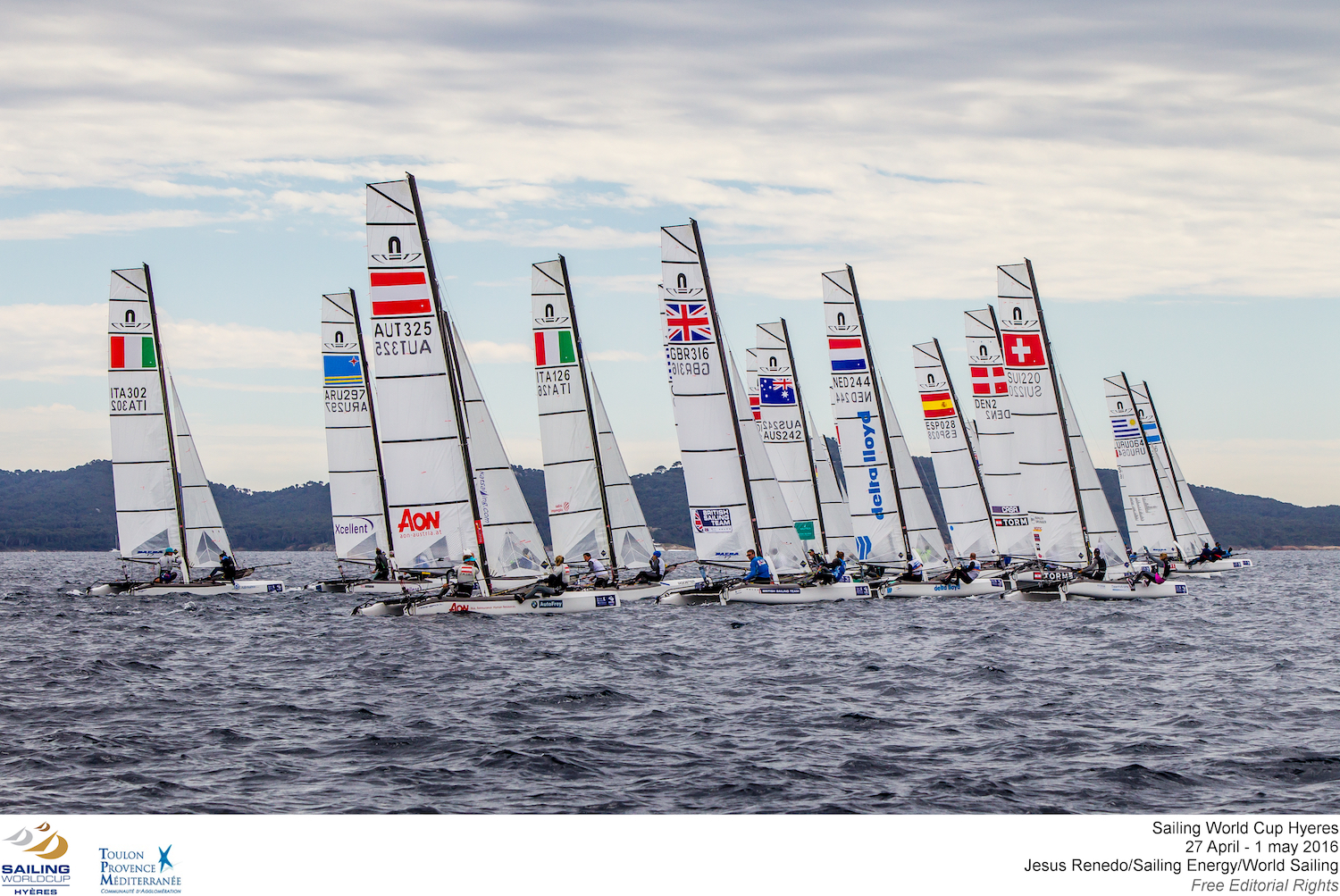 ©Jesus Renedo/Sailing Energy/World Sailing/ Nacra 17 Hyeres